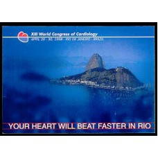 BP0184-BILHETE POSTAL XIII WORLD CONGRESS OF CARDIOLOGY - 1998