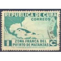 CUB0221UA-SELO ESTABELECIMENTO DA ZONA FRANCA DO PORTO DE MATANZAS, 1C - CUBA - 1936 - U