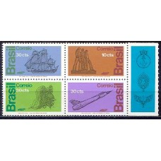 SB0769MQ-QUADRA HOMENAGEM ÀS FORÇAS ARMADAS - 1972 - MINT